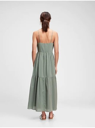Zelené dámské šaty cami maxi dress GAP