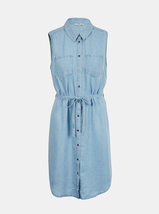 Světle modré košilové šaty ONLY Claire