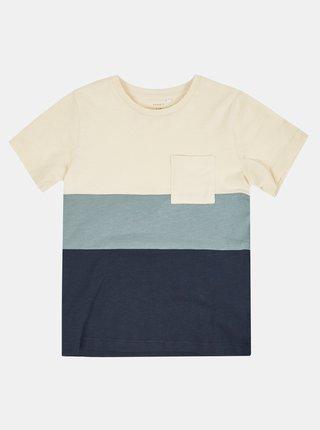 Krémovo-modré pruhované klučičí tričko name it Laso