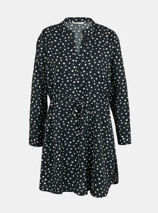 Čierne bodkované šaty so zaväzovaním ONLY Cory