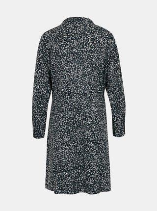 Čierne kvetované šaty so zaväzovaním ONLY Cory