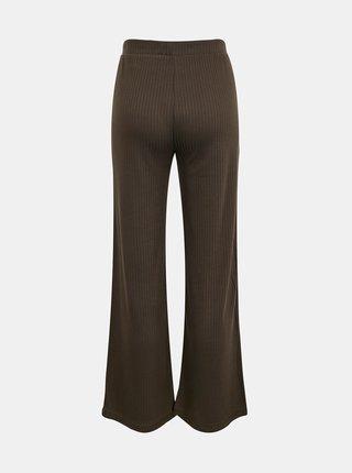 Khaki flared fit kalhoty Pieces Molly