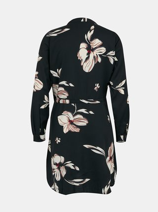 Černé květované šaty se zavazováním ONLY Cory
