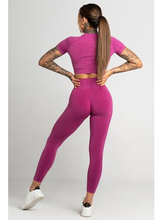 Legíny Gym Glamour Bezešvé Second Skin Pink