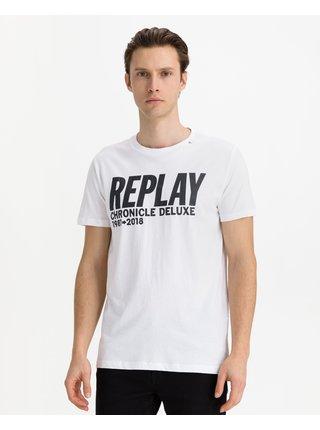 Tričká s krátkym rukávom pre mužov Replay - biela
