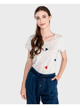 Tričká s krátkym rukávom pre ženy Scotch & Soda - biela, sivá