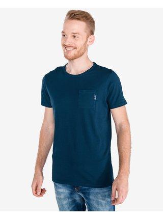 Tričká s krátkym rukávom pre mužov Scotch & Soda - modrá