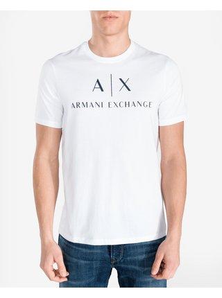 Tričká s krátkym rukávom pre mužov Armani Exchange - biela