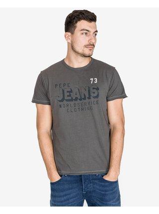 Tričká s krátkym rukávom pre mužov Pepe Jeans - sivá