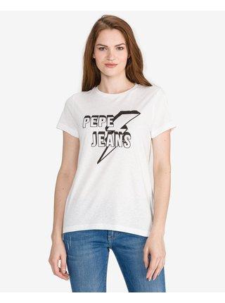 Tričká s krátkym rukávom pre ženy Pepe Jeans - biela