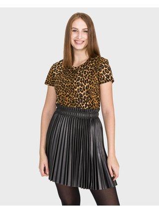 Tričká s krátkym rukávom pre ženy Scotch & Soda - žltá, hnedá