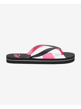 Papuče, žabky pre ženy SAM 73 - čierna, ružová