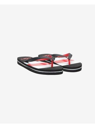 Papuče, žabky pre ženy SAM 73 - čierna, červená