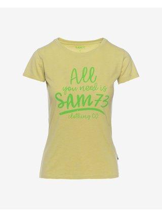 Tričká s krátkym rukávom pre ženy SAM 73 - žltá