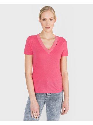 Tričká s krátkym rukávom pre ženy Scotch & Soda - ružová