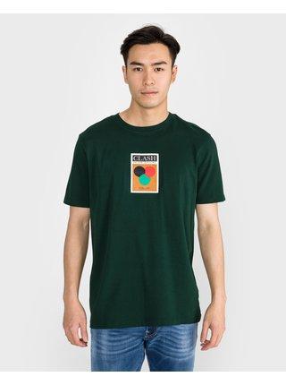 Tričká s krátkym rukávom pre mužov Scotch & Soda - zelená