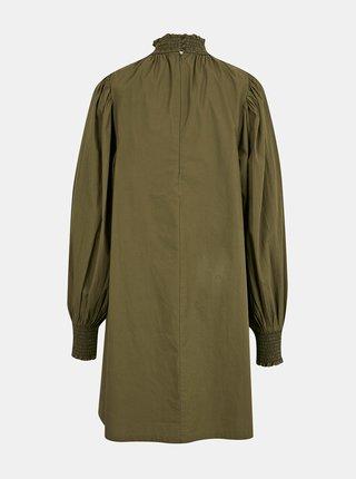 Khaki dámské šaty se stojáčkem ICHI