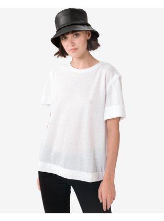 Tričká s krátkym rukávom pre ženy Diesel - biela