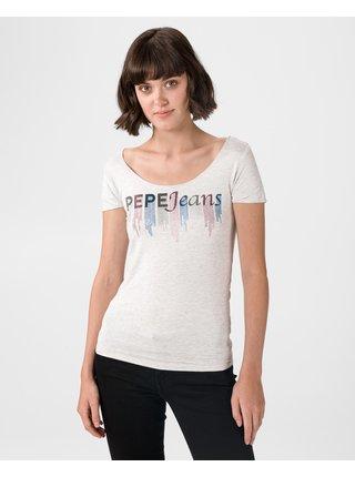 Tričká s krátkym rukávom pre ženy Pepe Jeans - sivá