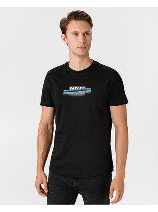 Tričká s krátkym rukávom pre mužov Diesel - čierna