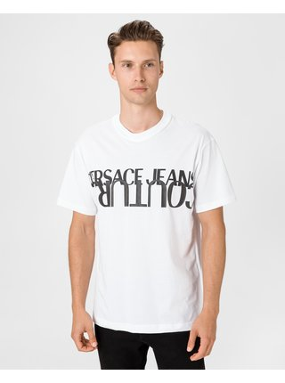 Tričká s krátkym rukávom pre mužov Versace Jeans Couture - biela
