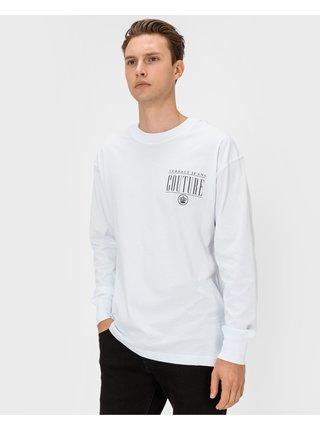 Tričká s dlhým rukávom pre mužov Versace Jeans Couture - biela