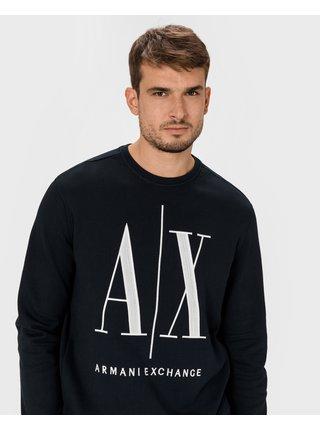 Mikiny bez kapuce pre mužov Armani Exchange - modrá