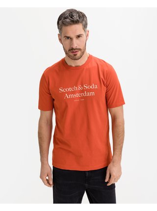 Tričká s krátkym rukávom pre mužov Scotch & Soda - oranžová