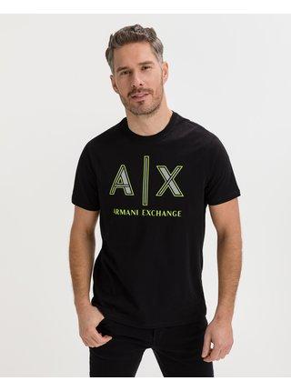 Tričká s krátkym rukávom pre mužov Armani Exchange - čierna