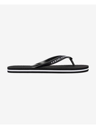 Sandále, papuče pre mužov Armani Exchange - čierna