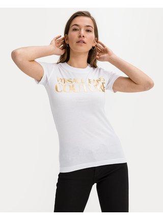 Tričká s krátkym rukávom pre ženy Versace Jeans Couture - biela