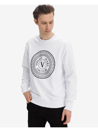 Mikiny bez kapuce pre mužov Versace Jeans Couture - biela