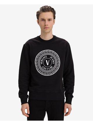 Mikiny bez kapuce pre mužov Versace Jeans Couture - čierna