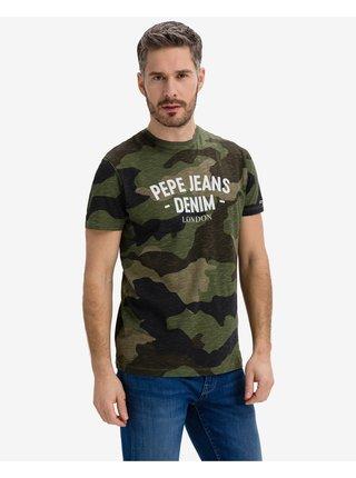 Tričká s krátkym rukávom pre mužov Pepe Jeans - zelená
