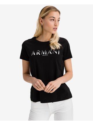 Tričká s krátkym rukávom pre ženy Armani Exchange - čierna