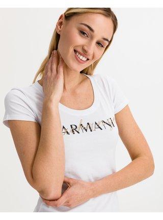 Tričká s krátkym rukávom pre ženy Armani Exchange - biela