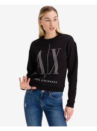 Mikiny pre ženy Armani Exchange - čierna