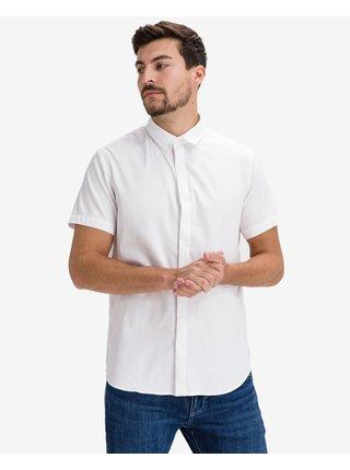 Košele s krátkym rukávom pre mužov Armani Exchange - biela