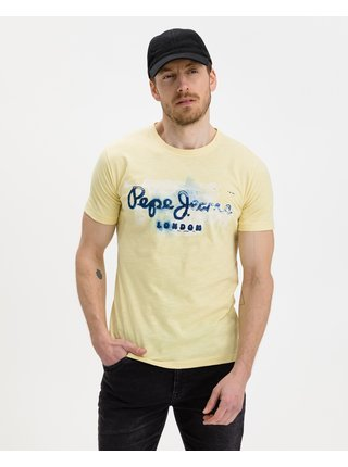 Tričká s krátkym rukávom pre mužov Pepe Jeans - žltá