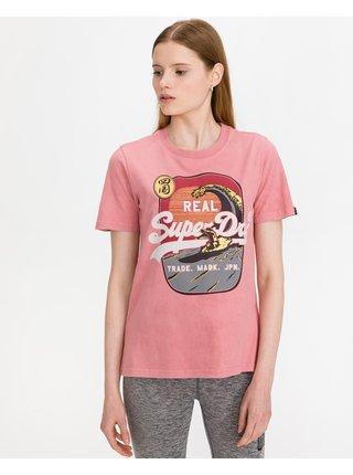 Tričká s krátkym rukávom pre ženy Superdry - ružová