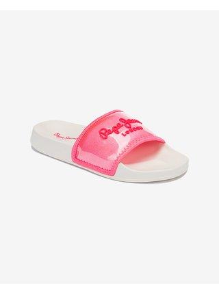 Papuče, žabky pre ženy Pepe Jeans - ružová, biela