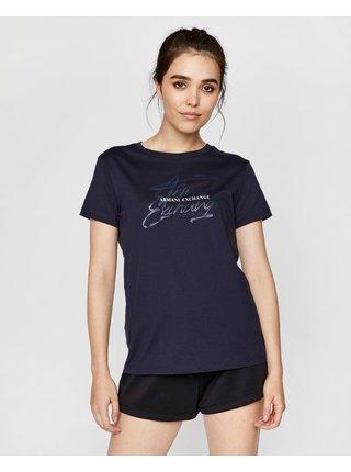 Tričká s krátkym rukávom pre ženy Armani Exchange - modrá