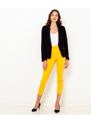 Žlté 3/4 skinny fit nohavice CAMAIEU