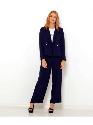 Tmavě modré široké kalhoty CAMAIEU