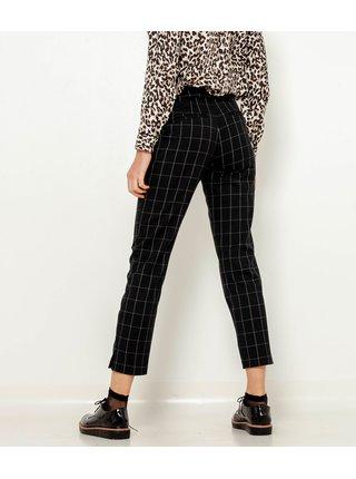 Černé kostkované zkrácené kalhoty CAMAIEU