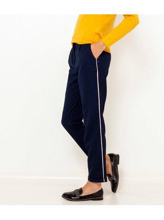 Tmavě modré zkrácené kalhoty s lampasem CAMAIEU