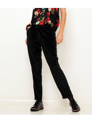 Černé sametové kalhoty s lampasem CAMAIEU