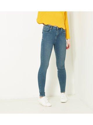Modré skinny fit džíny CAMAIEU