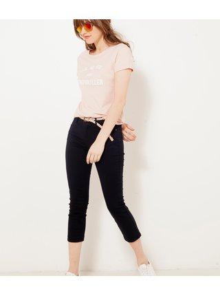 Černé 3/4 skinny fit kalhoty CAMAIEU
