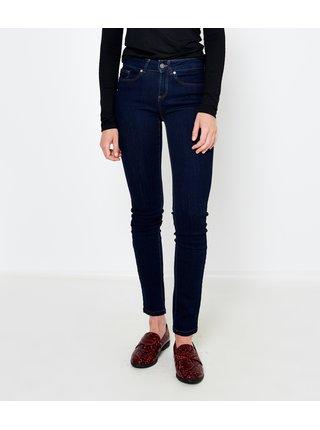Tmavě modré push up slim fit džíny CAMAIEU